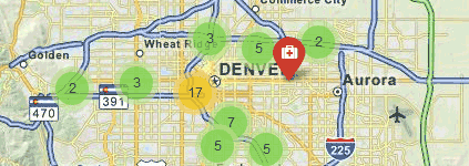 Colorado Marijuana Dispensary and Shop Map