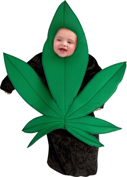 (brandsonsale.com)  sc 1 st  The Cannabist & So this exists: A pot leaf Halloween costume for babies