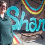 Becky Hensley opened the Share Denver community craft center in Denver's Park Hill neighborhood to provide a place for learning and camaraderie. The mural was painted by Zshanna Kristoff, Nick Kema and Chuckie Martinez. (Brent Lewis, The Denver Post)