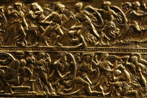 Scythian gold from another discovery, detail. (Petros Giannakouris, AP)