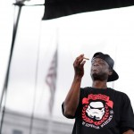 Devin The Dude checks out a joint that a fan threw onstage during his performance at Civic Center Park for the Denver 420 festival on April 18, 2015. (Brent Lewis, Denver Post file)