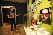 "Associate Curator of Natural Sciences Sarah Seiter talks about some of the displays of the new exhibit ""Altered State: Marijuana in California,"" the first-ever museum exhibition on cannabis in California at the Oakland Museum of California. (Laura A. Oda, Bay Area News Group)"
