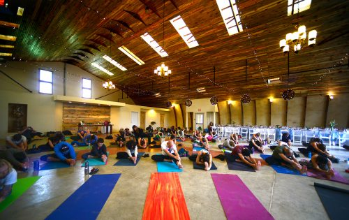 The 420-friendly Lone Hawk Farm in Longmont was the site of Yoga With A View on May 15 2016. The event paired carefully selected marijuana strains with yoga and a multiple course brunch. (Vince Chandler, The Denver Post)