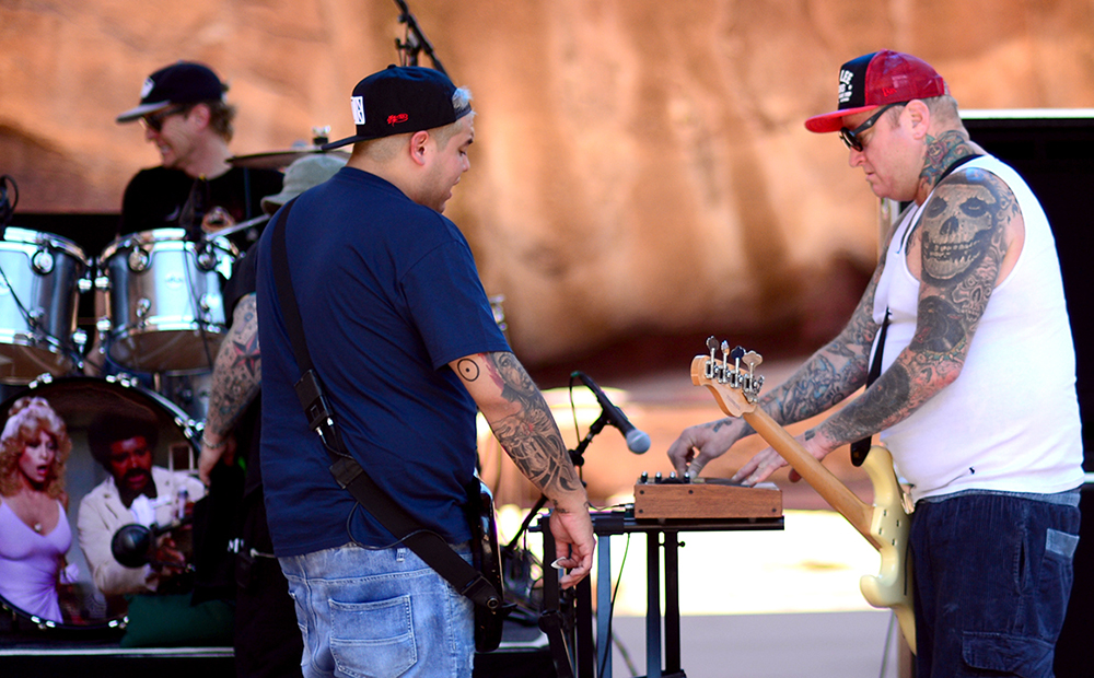 Sublime with Rome, the dub band featuring original Sublime member Eric Wilson and singer Rome Ramirez, made an early stop at the famous Red Rocks Amphitheatre on its summer 2016 tour on June 27, 2016. (Vince Chandler, The Denver Post)