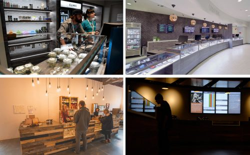 A sampling of shop design that emerged in 2016. (Photo credits clockwise top left: Denver Post file, Blum Las Vegas, Denver Post file, Mindy Capps / Paper & Leaf)