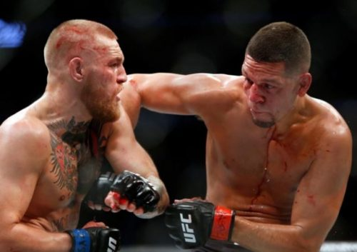 Conor McGregor, left, and Nate Diaz inflicted plenty of damage on each other at UFC 202. (Steve Marcus, Getty Images)