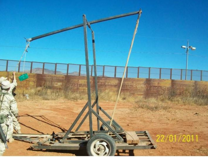 A trebuchet that was seized by Mexican authorities in 2011. (Courtesy of U.S. Border Customs and Border Protection)