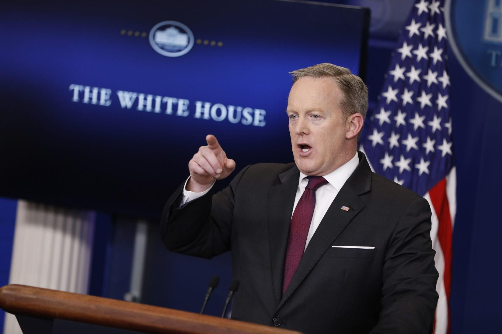 White House Press Secretary Sean Spicer holds the daily briefing Feb. 23, 2017, at the White House in Washington, D.C. (Aaron P. Bernstein, Getty Images)