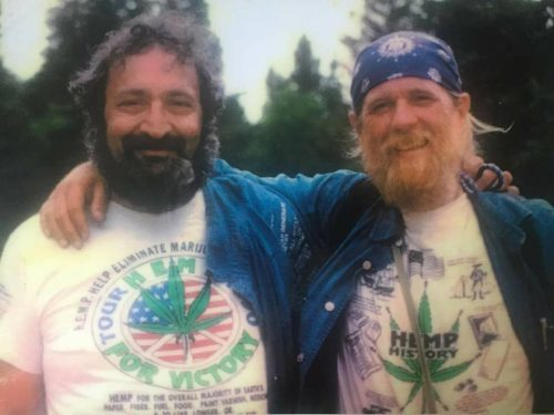 Jack with Captain Ed Adair, 1990